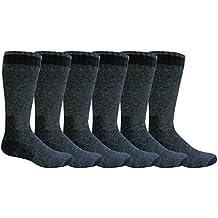 """Freshox Men's """"6 Pair"""" WOOL Heavy Boot Socks Hunting Camping Trekking Hiking"""