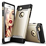 iPhone 7 Case, ESR Hybrid Heavy Duty Shockproof Protective Case Cover [Metal Design] [Matte Silicone Back + Thickened TPU Bumper] for Apple iPhone 7 4.7 inches(Champange Gold)