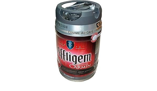 Affligem Cuvée Carmín barril de 5 litros incl tambor. Espita 6,2% vol.: Amazon.es: Alimentación y bebidas