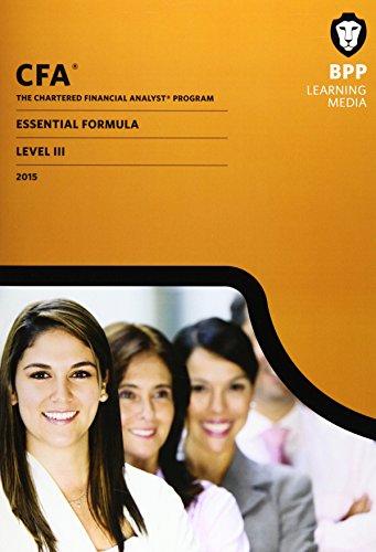 CFA Level 3: Essential Formulas