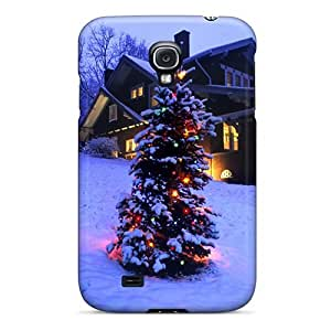 High Impact Dirt/shock Proof Case Cover For Galaxy S4 (snow Covered Christmas Tree)