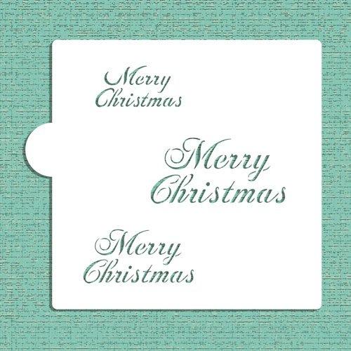 """Designer Stencils CM040 Stencil per biscotti con scritta /""""Merry Christmas/"""""""