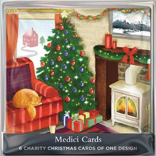 Pack of 6 Christmas At Home Charity Christmas Cards Supports Multiple Charities: Amazon.es: Oficina y papelería