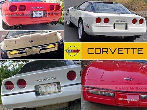 Front /& Rear Plastic Letters Inserts for 1984-1990 Corvette C4 Models BDTrims Chrome