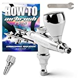 single action airbrush gun - PointZero Single Action 7cc Gravity-Feed (Stubby) Airbrush Set - .3mm Nozzle