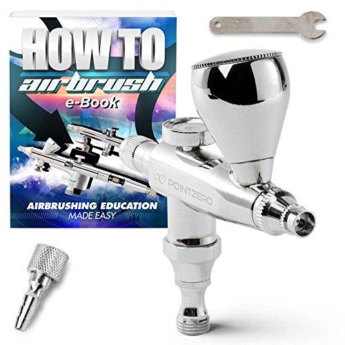 PointZero Single Action 7cc Gravity-Feed (Stubby) Airbrush Set - .3mm (Gravity Feed Airbrush Set)