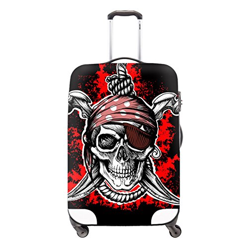 Generic Skull Trolley Luggage Covers for Youth Cool Luggage Protective Covers Waterproof