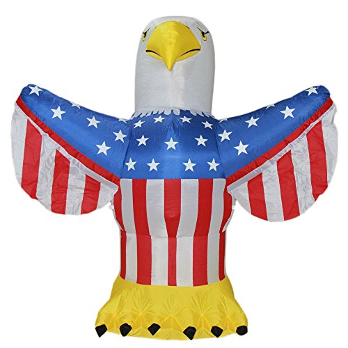 Impact Canopy Inflatable Outdoor Independence Day Decoration, Lighted 4th of July Eagle, 6 Feet -