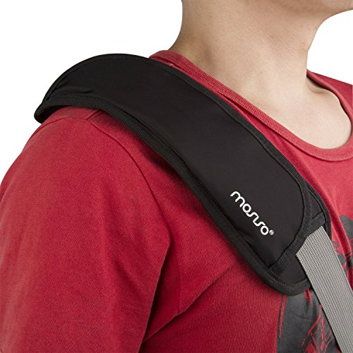MOSISO Memory Foam Shoulder Pad Replacement Long and Super Comfortable for Bags - Small Size, Black by MOSISO (Image #3)
