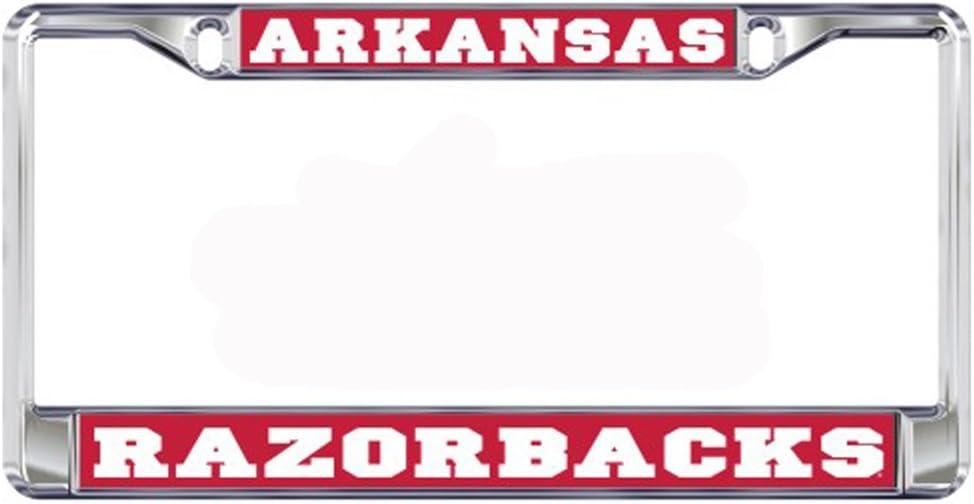 Craftique Arkansas Razorbacks Domed Metal License Plate Frame