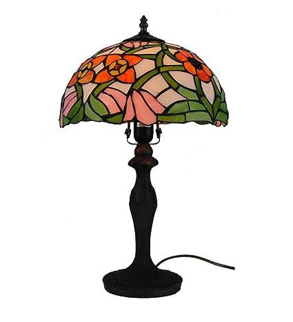 Nueva lámpara de mesa estilo Tiffany 2019, vidrieras ...