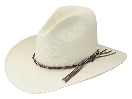 5d157d110bc5f Stetson Gus Straw Cowboy hat at Amazon Men s Clothing store