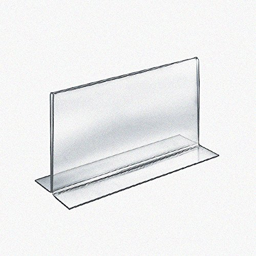 Azar 152734 8.5-Inch Width by 5.5-Inch Height Horizontal Double Sided Stand Up Acrylic Sign Holder, 10-Pack