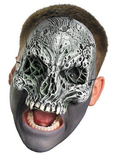 Baoer Dark Skull Chinless Mask One Size (Halloween Half Skull Mask)