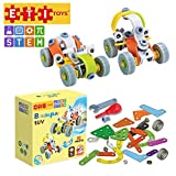 ETI Toys   STEM Learning   62 Piece Junior Engineer Build & Play 2 SUV Design Building Blocks. 100% Non-Toxic, Fun, Creative Skills Development! Best Gift, Toy for 8, 9, 10 Year Old Boys and Girls