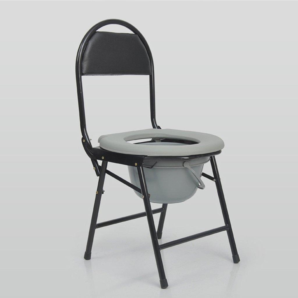 Shariv-シャワーチェア トイレ折りたたみ式トイレの椅子に座っている高齢者ステンレストイレ妊婦のバスチェア B07DR4SWQJ