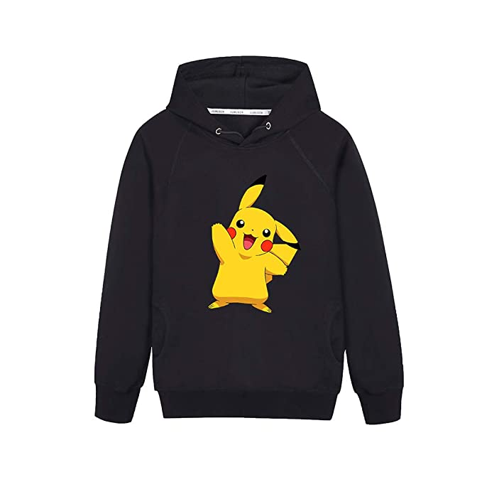 Unisex Pokemon Sudadera Simple Pikachu Estampado suéter Pullover Casual Sport Coat Top Vogue Sudaderas con Capucha Sudaderas para Hombres y Mujeres Chaqueta ...