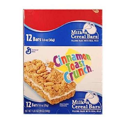 Cinnamon Granola Crunch (Product Of General Mills, Cinnamon Toast Crunch Cereal Bar, Count 12 (1.6 oz) - Granola/Cereal/Oat/Brkfast Bar / Grab Varieties & Flavors)