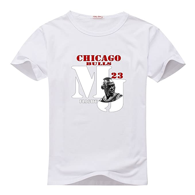 a03d853db6d2bc AndyDoggette Michael Jordan Pattern Youth Tee White T-shirts Size S(8Y-10Y