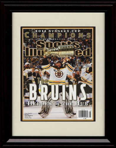 Mvp Autograph - Framed 2011 Boston Bruins Stanley Cup Champions Sports Illustrated Autograph Replica Print - Tim Thomas MVP