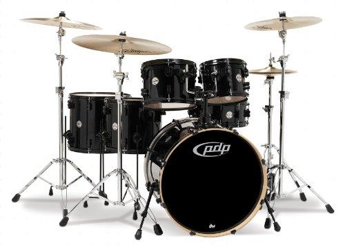 (Pacific Drums PDCM2216PB Concept Series 6-Piece Drum Set - Pearlescent Black)