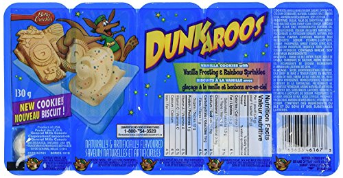 Dunkaroos Pack of 2 Vanilla Frosting with Rainbow Sprinkles Imported From (Vanilla Dip)