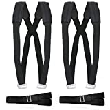 Shoulder Moving Straps - Lifting Adjustable Strap for 2 Person - Lift Carry Secure Furniture Bed Appliance Mattresses Or Heavy Objects- Black