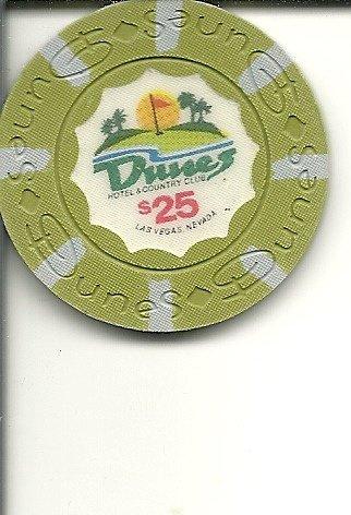 (Vintage $25. Dunes Casino Chip - Las Vegas, Nevada)