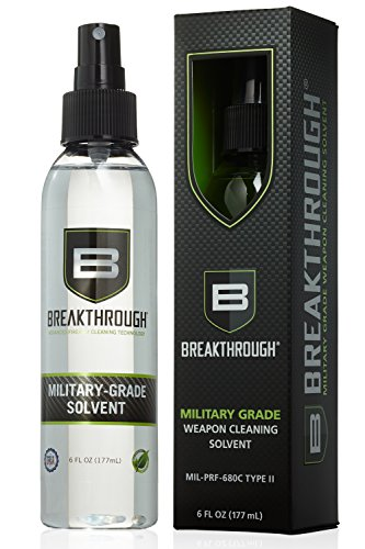 Breakthrough Advanced Firearm Cleaning Technology Military-Grade Solvent Spray Bottle, 6-Ounce