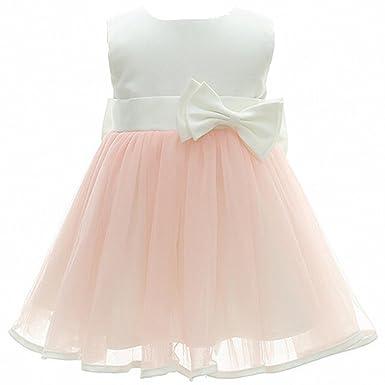 AHAHA Baby Mädchen Kleider Rosa Prinzessin Brautkleider Besondere ...