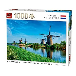 King 55885 Windmills Kinderdijk Olanda Puzzle 1000 Pezzi A Colori 68 X 49 Cm
