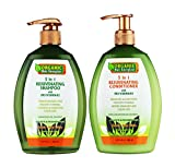 Hair Growth Shampoo & Conditioner - 2 in 1 Set, 13 fl oz each - DHT Blocker + PH Balancer Duo, Pro Vitamin-B5 Sulfate-Free - Stop Loss & Thinning at Root - Best Regrow Treatment for Male & Female