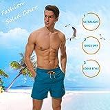 SILKWORLD Men's Swim Trunks Quick Dry Beach Shorts