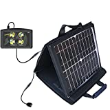 Gomadic SunVolt High Output Portable Solar Power Station designed for the Maylong FD-430 GPS For Dummies - Can charge multiple devices with outlet speeds
