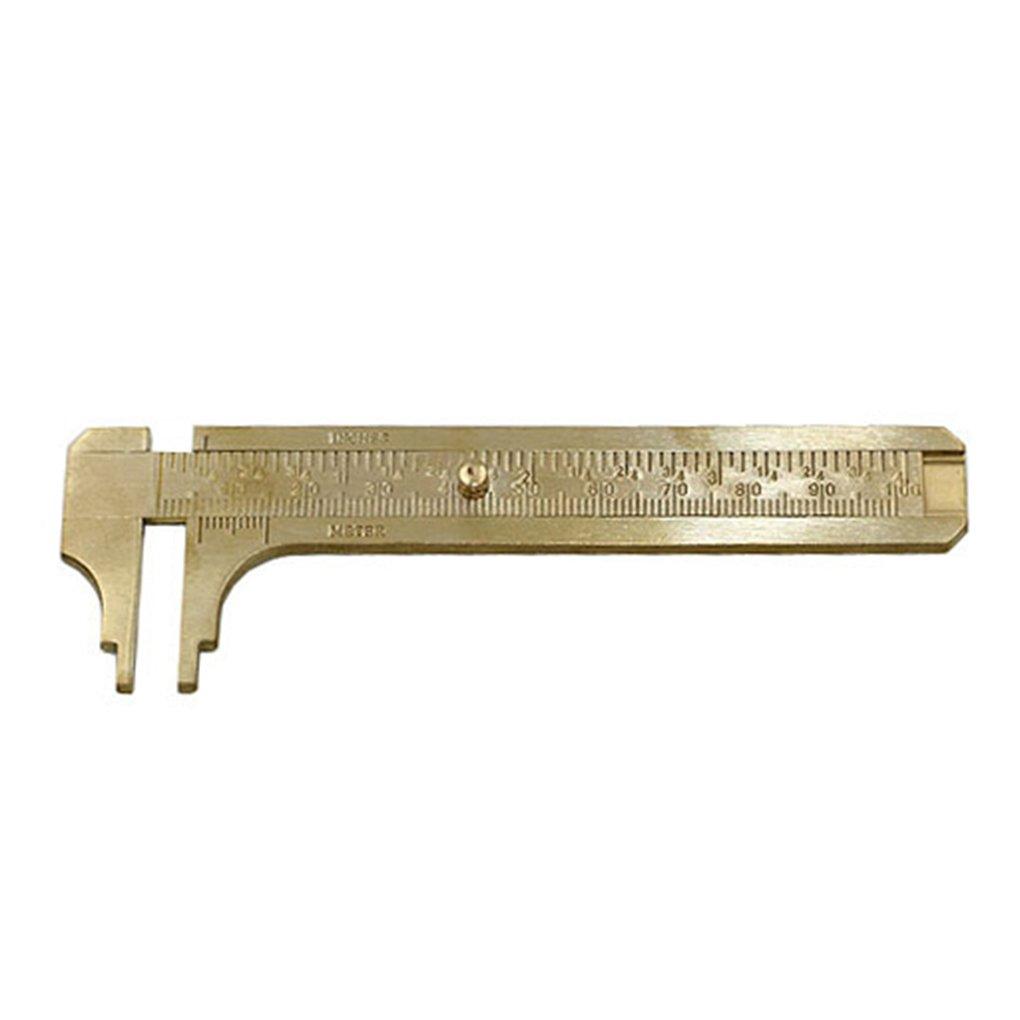 Sunlera 80//100 EVO//120mm Mini Brass Pie de Rey de Bolsillo de Tama/ño Port/átil Regla de Medici/ón de la Vendimia