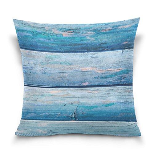Vipsk Cushion Case Pillow Cover Pillowcase Square 20 x 20 Inch Velveteen Blue Board