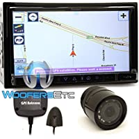 pkg F-761NX - Farenheit In-Dash 2-DIN 7 Touchscreen GPS Navigation DVD Receiver + XO Vision Backup Camera with Nightvision