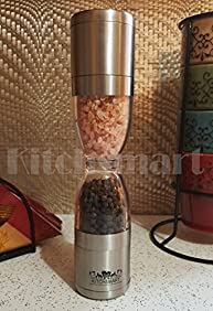 SALE! 2 IN 1 Deluxe Salt and Pepper Mill Grinder with Adjustable Mechanism by Kitchsmart (Manual )