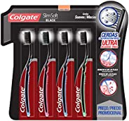 Colgate Slim Soft Cepillo Dental, Multicolor,