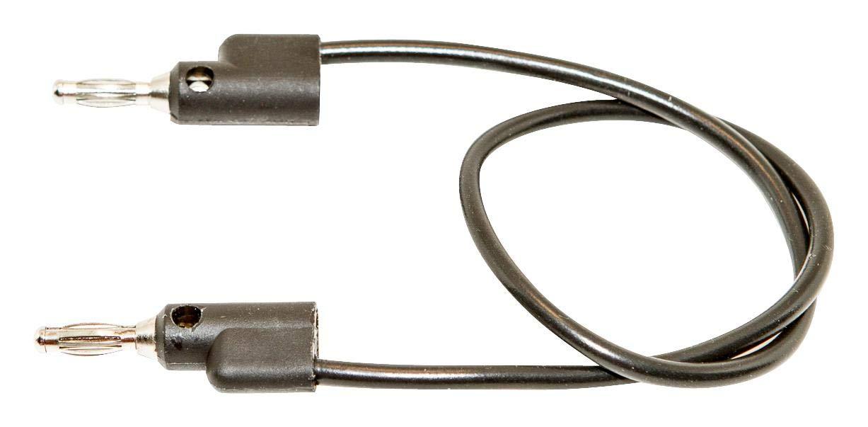 MUELLER ELECTRIC BU-PB18-0 Test Lead, 4mm Stackable Banana Plug, 4mm Stackable Banana Plug, 1 kV, 15 A, Black, 457 mm