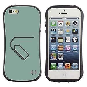 Suave TPU GEL Carcasa Funda Silicona Blando Estuche Caso de protección (para) Apple Iphone 5 / 5S / CECELL Phone case / / Paperclip Minimalist Green Grey /