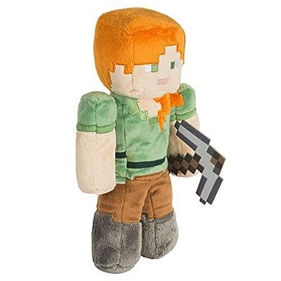"""JINX Minecraft Alex Plush Stuffed Toy (Multi-Color, 12"""" Tall)"""