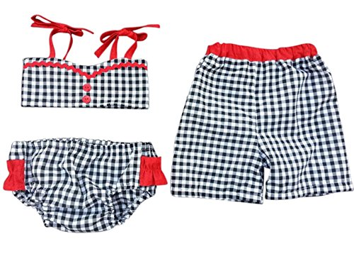 Perfect Pairz Brother Sister Boy Girl Twin Swimsuit Set - Gidget & Grady