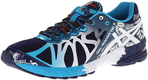 ASICS Men's Gel Noosa Tri 9 Running Shoe,NavyWhiteFlame,12