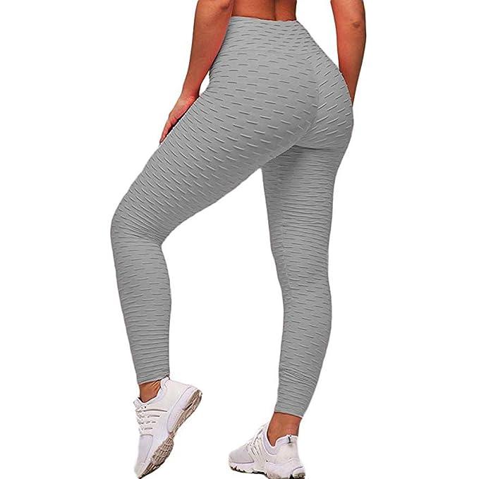 Amazon.com: ASNUG - Pantalones de yoga de cintura alta para ...