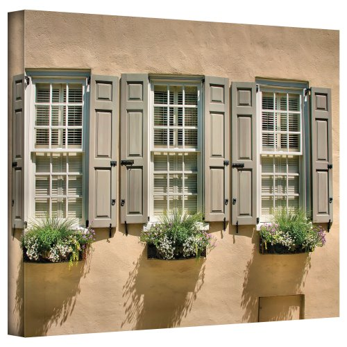 Charleston Gallery - ArtWall 'Windows of Old Charleston' Gallery Wrapped Canvas Artwork by Steve Ainsworth, 36 by 48-Inch