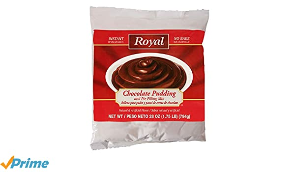 Amazon.com : Royal Instant No Bake Chocolate Pudding and Pie Filling 28 ounce bag (6 pack case) : Grocery & Gourmet Food