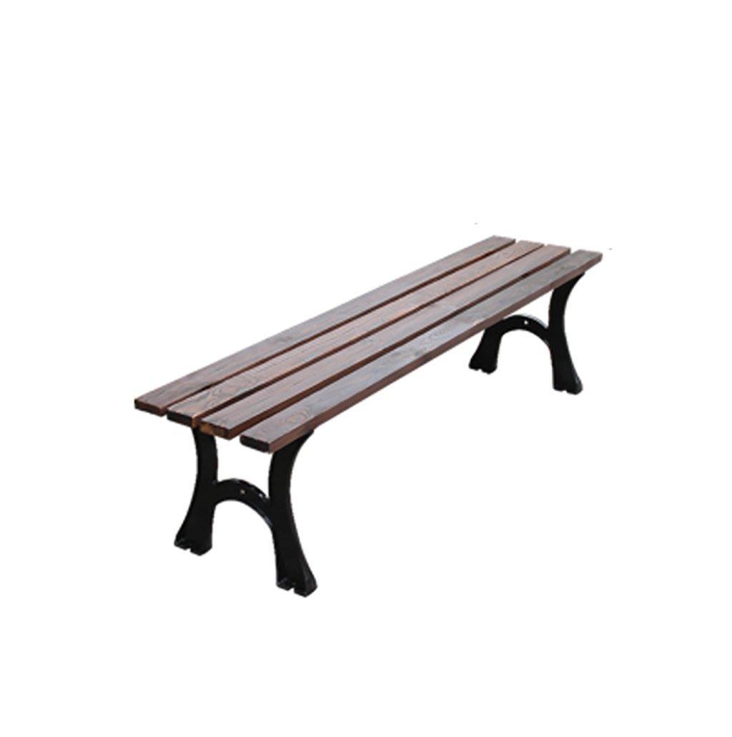 純木のベンチ、木製のベンチ、屋外の中庭公園のベンチ、正方形の庭の屋外席、120 * 40 * 38 cm B07RGW6FLM