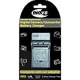 Inov8 Kodak Klic-8000 / Klic 8000 Travel Battery Charger with 12v in-car adapter