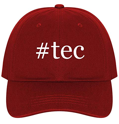 #tec - A Nice Comfortable Adjustable Hashtag Dad Hat Cap, Red